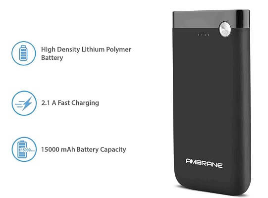 Ambrane 15000mAh Li-Polymer Powerbank with Type C