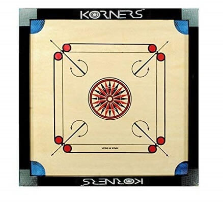 KORNERS Wooden Carrom Board 26 inch