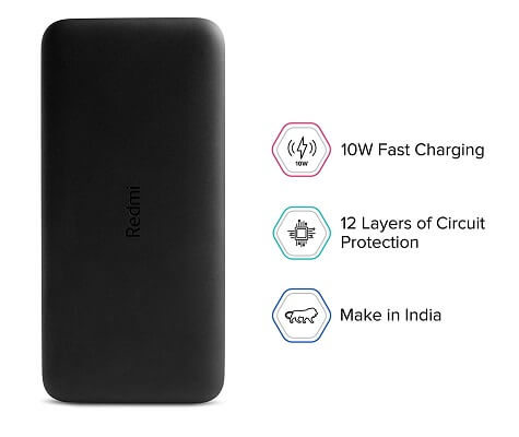 Redmi 10000 mAh Fast Charging Slim Power Bank