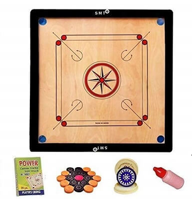 SMT 32 Inch Carrom Board with Coins
