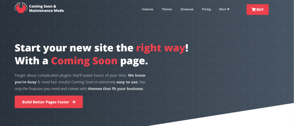 Coming Soon & Maintenence Mode homepage