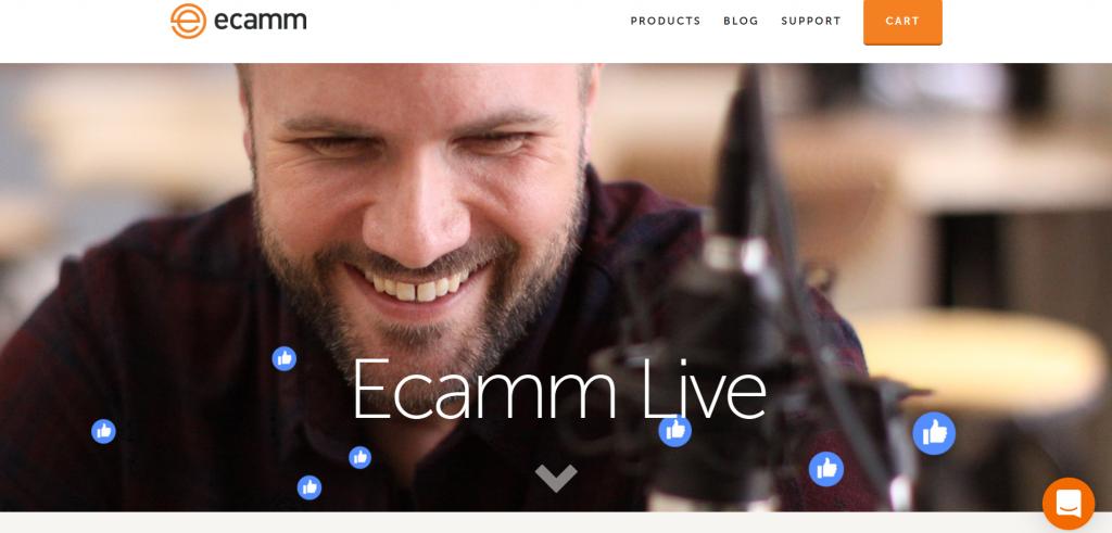 Ecamm Live homepage
