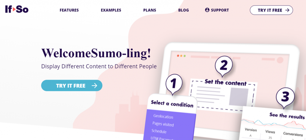 If-So Dynamic Content homepage