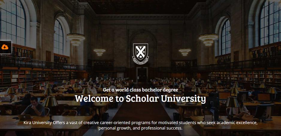 Scholar University template preview