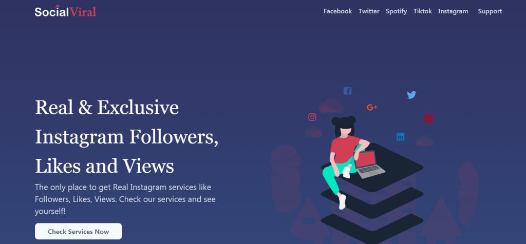 Social-Viral homepage