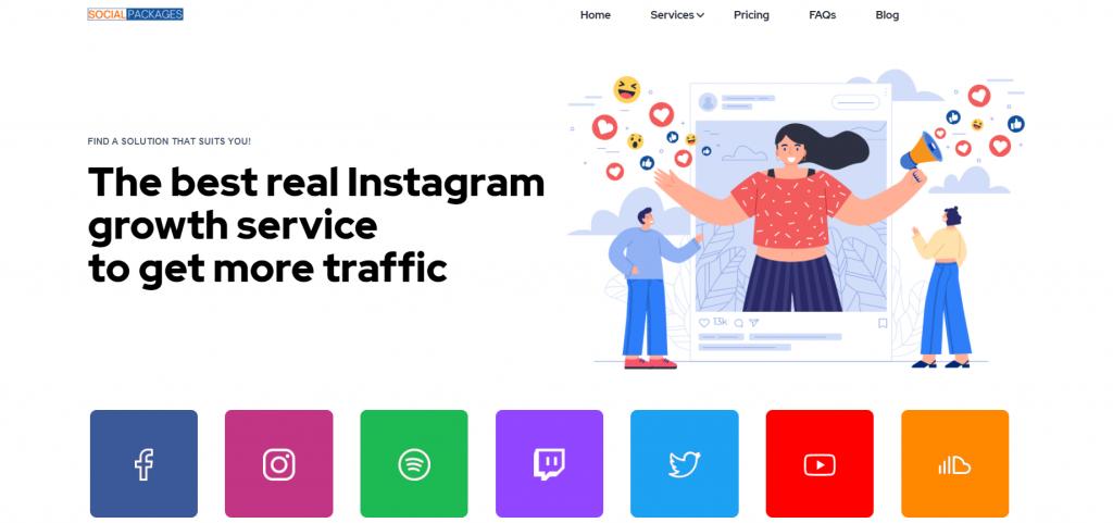 Social Packages homepage