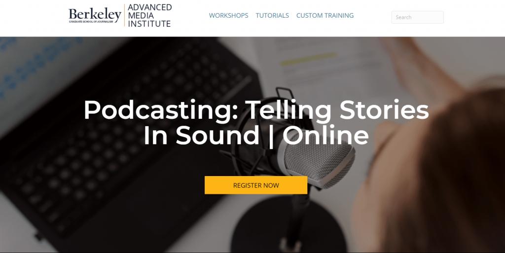 Telling stories in sound website