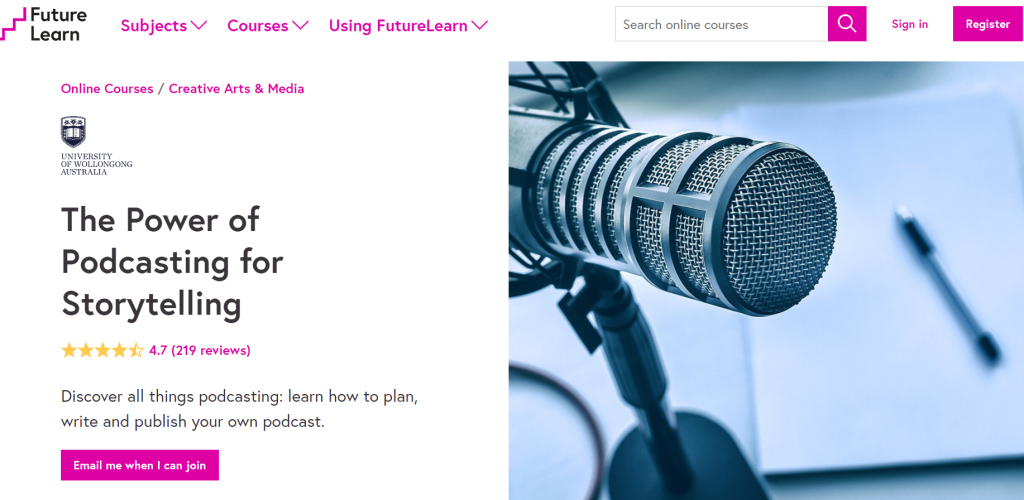 The Power of Podcasting website