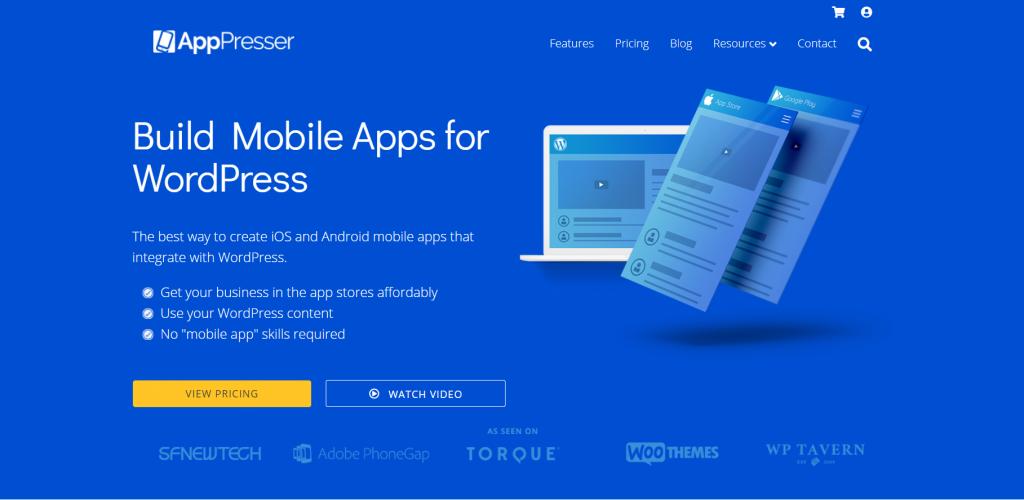 AppPresser homepage