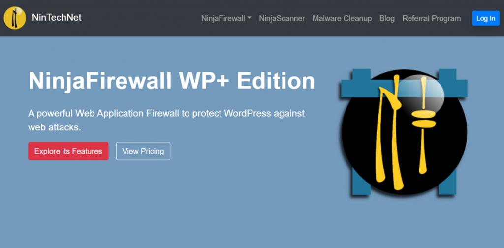 NinjaFirewall WP Edition homepage