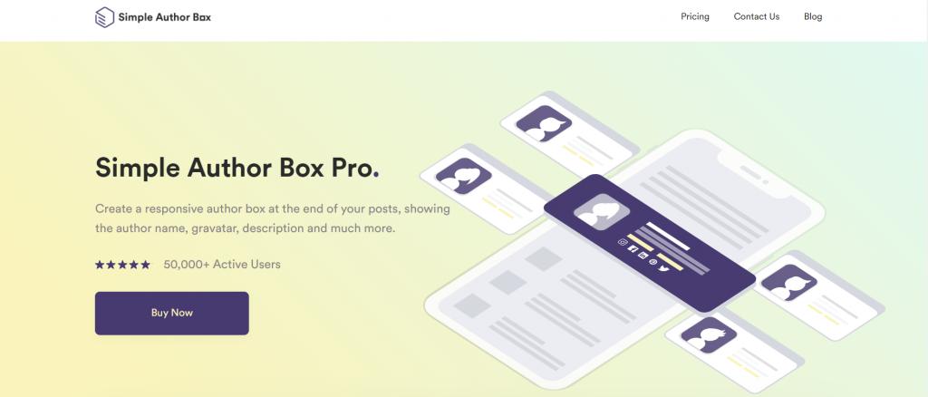 Simple Author Box website