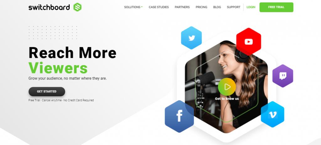 Switchboard homepage
