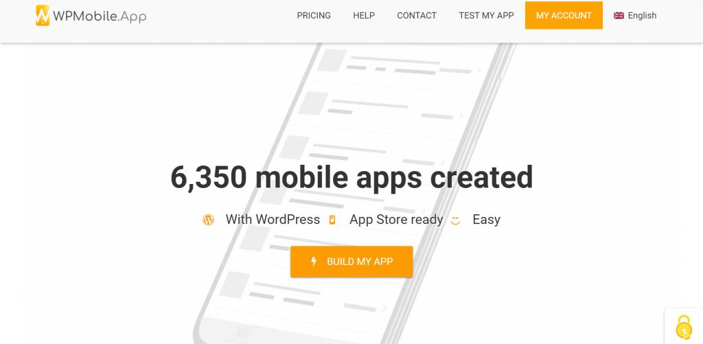 WPMobileApp homeapge