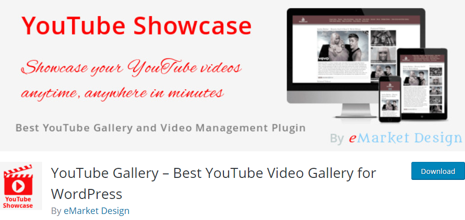 YouTube Gallery banner