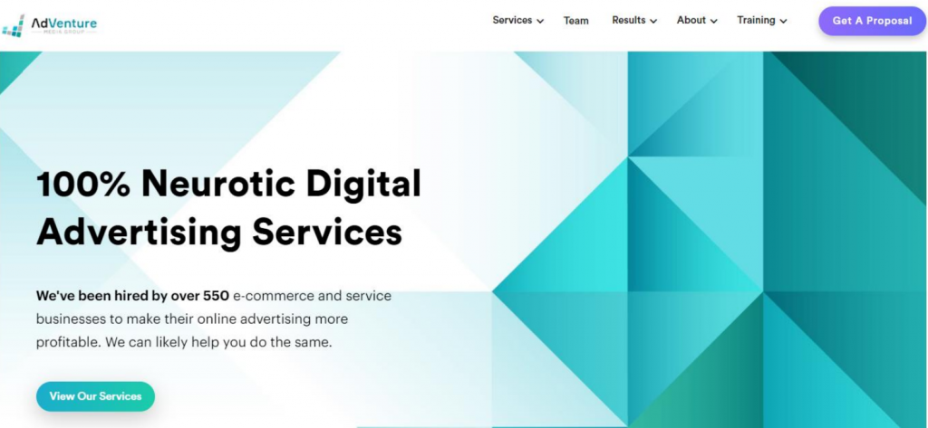 AdVenture Media Group homepage