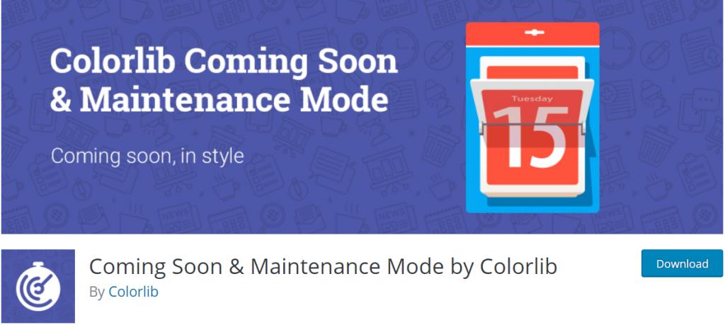 Comin Soon and Maintenance Mode Colorlib