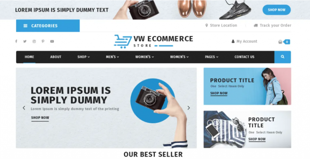 VW Ecommerce Store preview