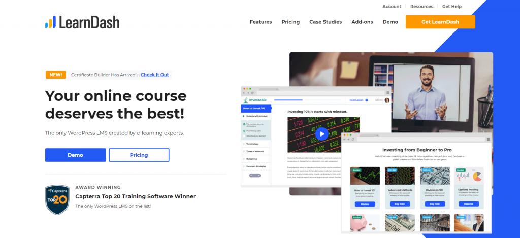 LearnDash homepage