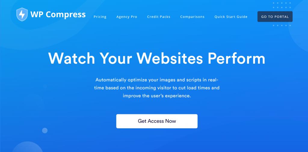 WP Compress homepage