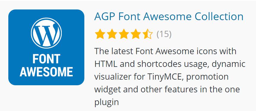 AGP Font Awesome on WordPress