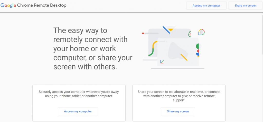 Chrome Remote Desktop homepage