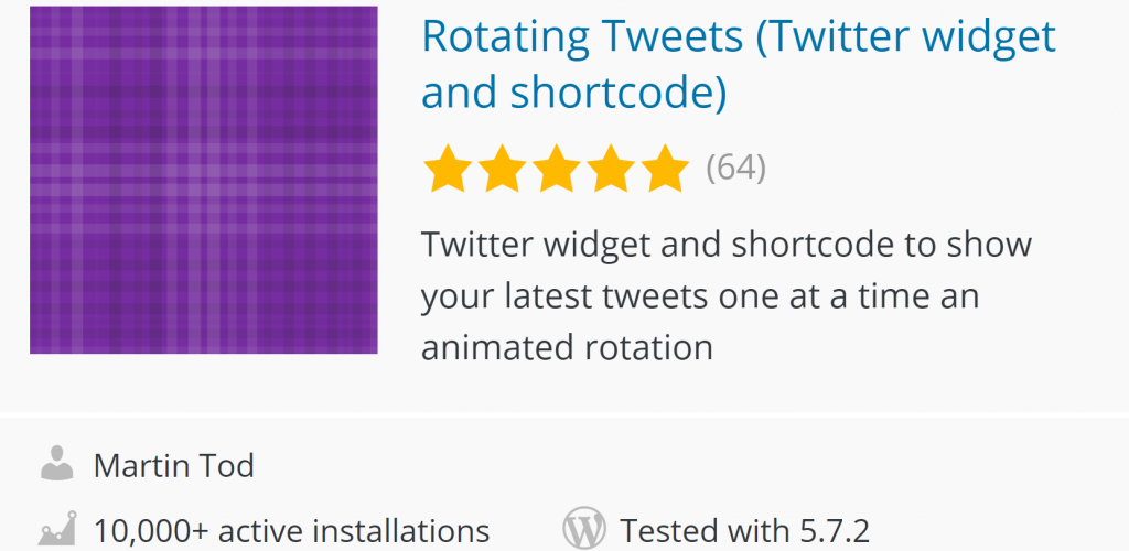 Rotating Tweets on WordPress
