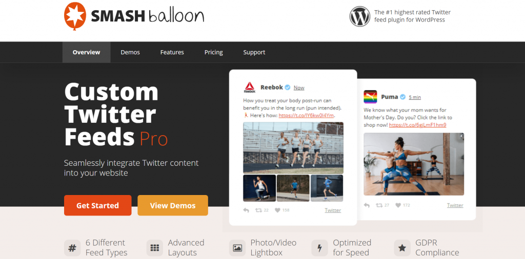 Smash Balloon Custom Twittter Feeds Pro website