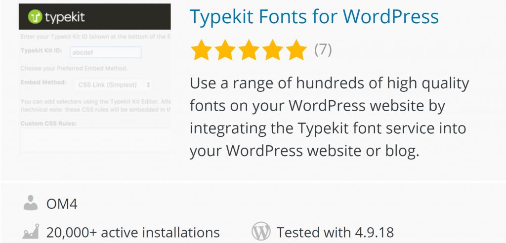 Typekit Fonts on WordPress