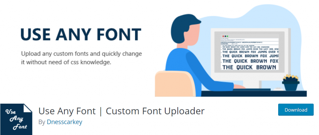 Use Any Font banner