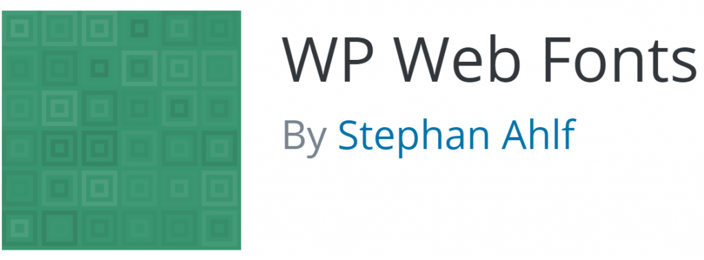 WP Web Fonts icon and name