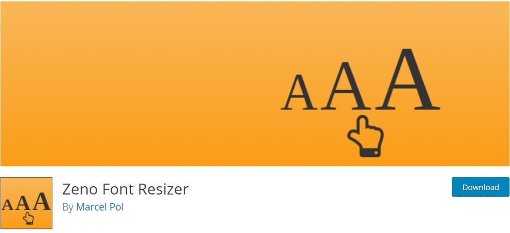 Zeno Font Resizer banner
