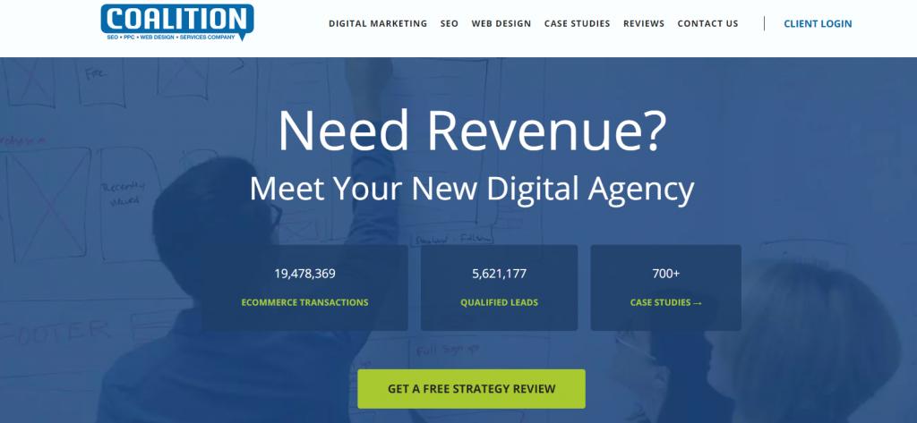 Coalition Technologies homepage