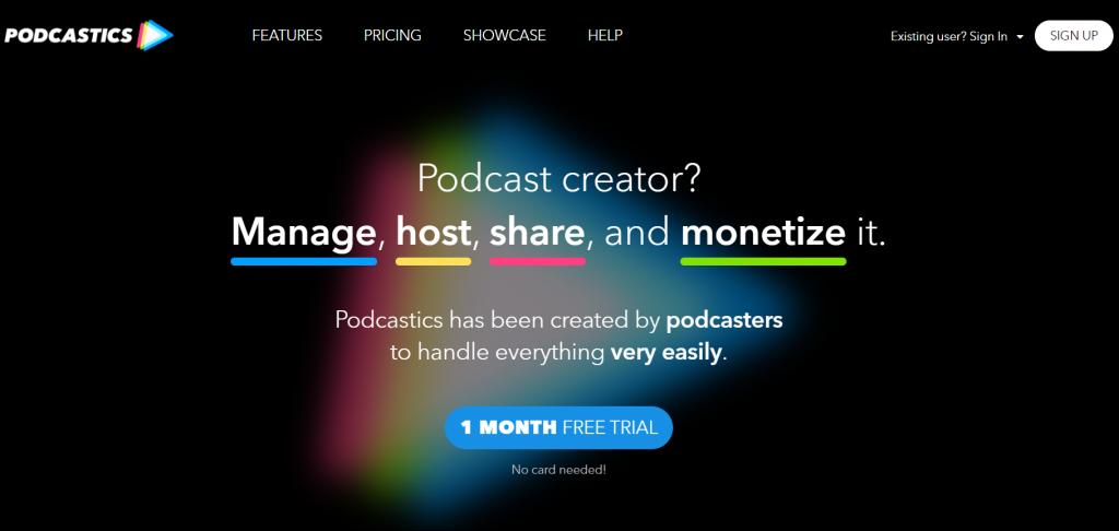 Podcastics homepage