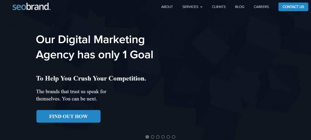 SEO Brand homepage