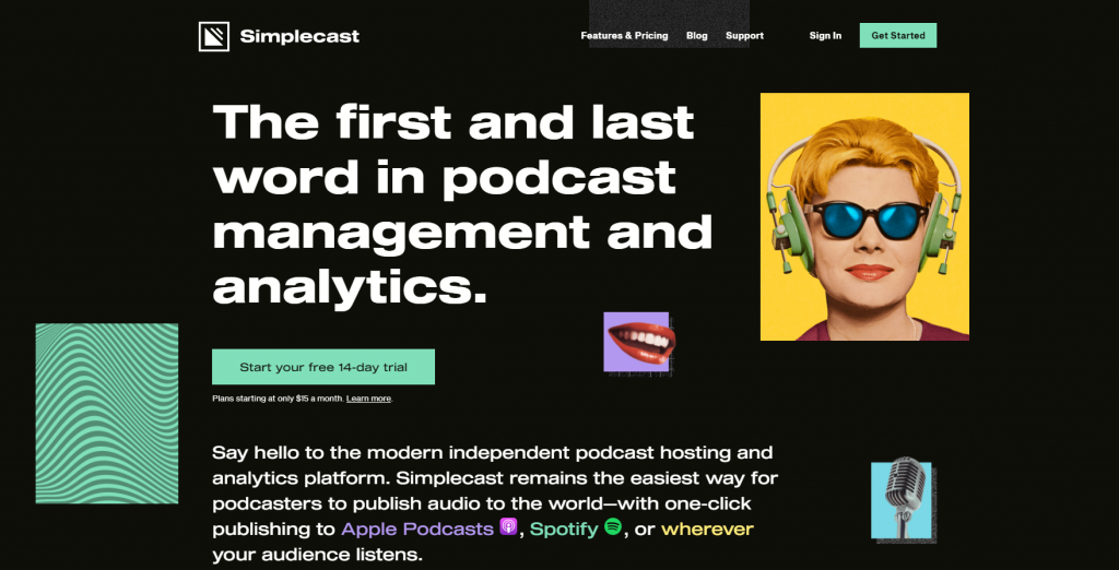 Simplecast homepage