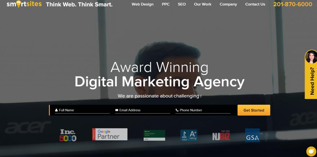 SmartSites homepage