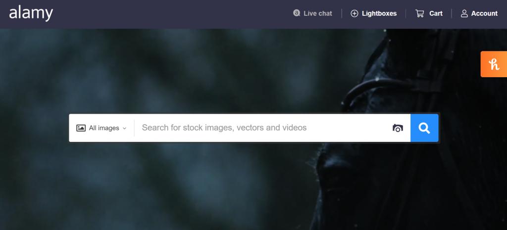 Alamy homepage