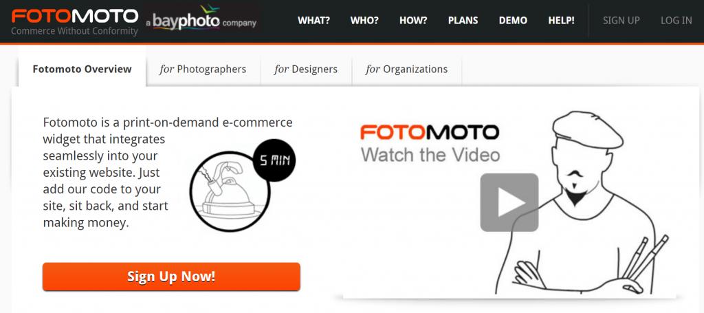 Fotomoto homepage