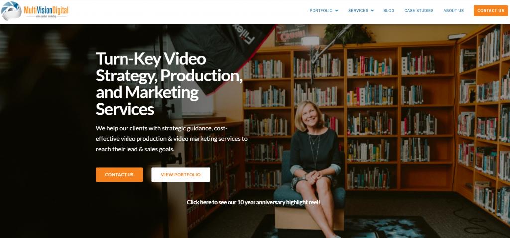 MultiVision Digital homepage